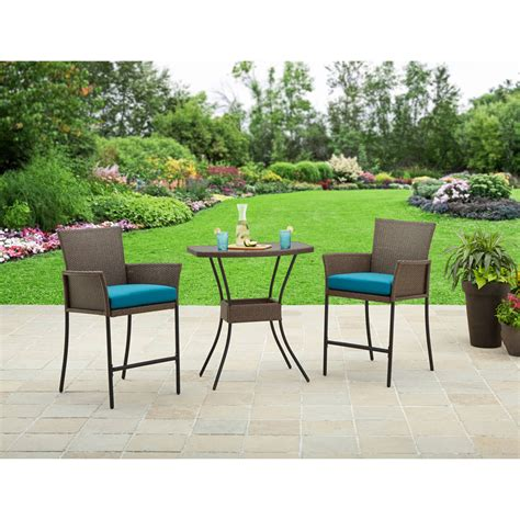 mainstays 3 small space scroll outdoor bistro set