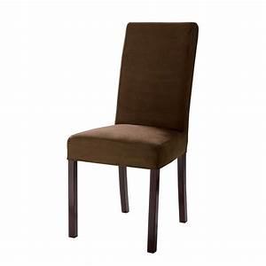 Chaise Tolix Maison Du Monde : housse de chaise en microfibre chocolat margaux maisons ~ Melissatoandfro.com Idées de Décoration
