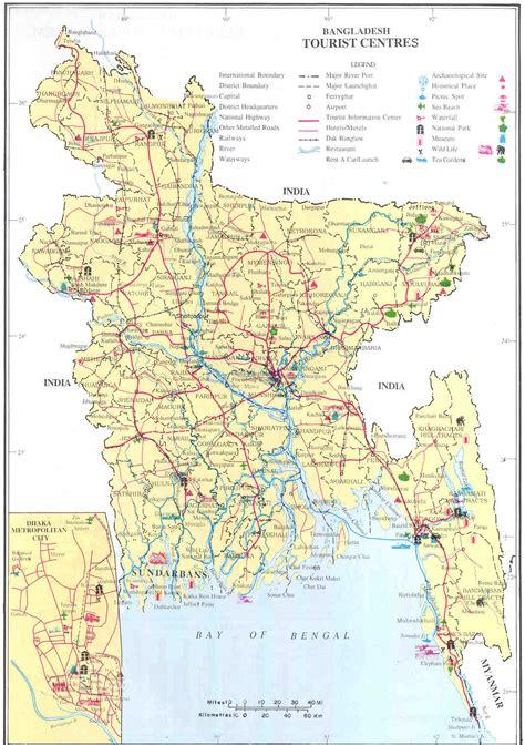 bangladesh tourist center map bangladesh mappery