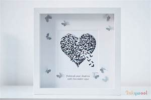 Silver Wedding Anniversary Personalised Wall Art Print By