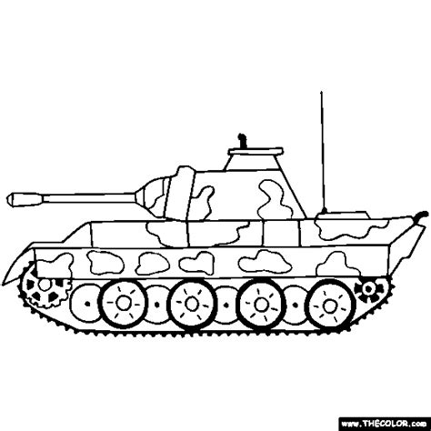 panzer panther tank coloring page color tanks army