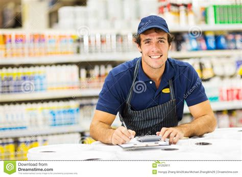 Hardware Store Worker Stock Photo