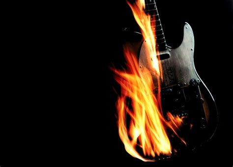 Flame Guitar Hd Wallpaper | All HD Wallpapers Gallerry