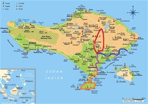 location map  tegallalang village ubud bali island