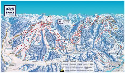 ski map salzburger sportwelt austria