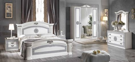 White Bedroom Suites Uk by Alex Classic Italian Bedroom Furniture Set White