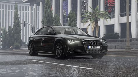 Audi A8 L Modification by 2011 Audi A8 L W12 Quattro D4 Add On Tuning Gta5
