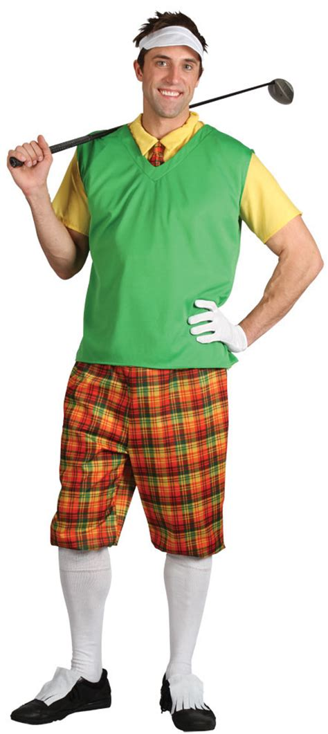 Mens u0026 Ladies Golfer Sports Fancy Dress Pub Golf Adult Costume Outfit + Hat   eBay