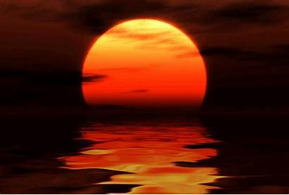 Sunset Water Fantasy Waters Ocean Cool Animation