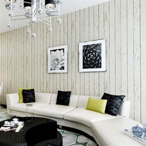 blue white wood panel non woven wallpaper roll living room