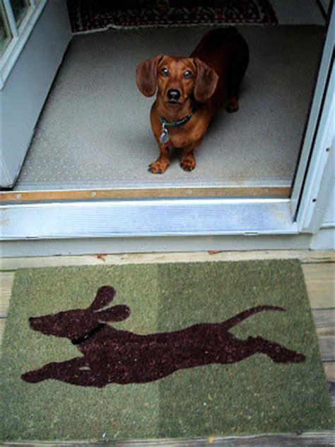 Dachshund Doormat by The And Of It All A Dachshund News