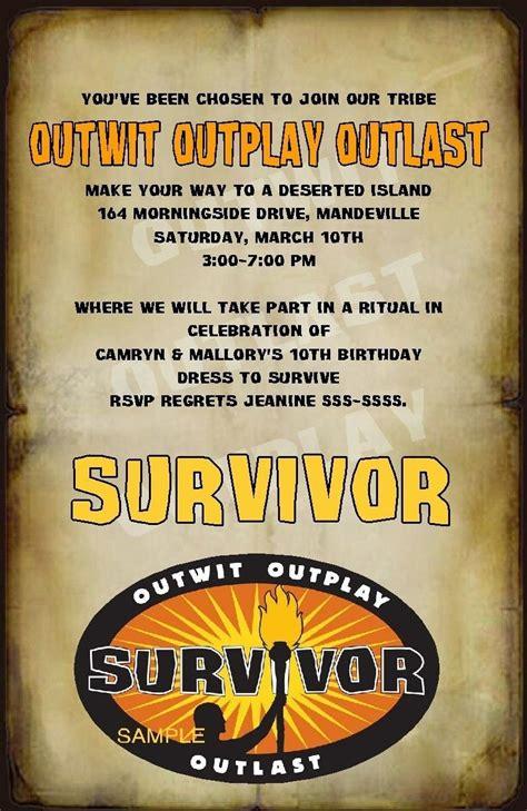 Custom Survivor Party Invitations   Survivor party ...