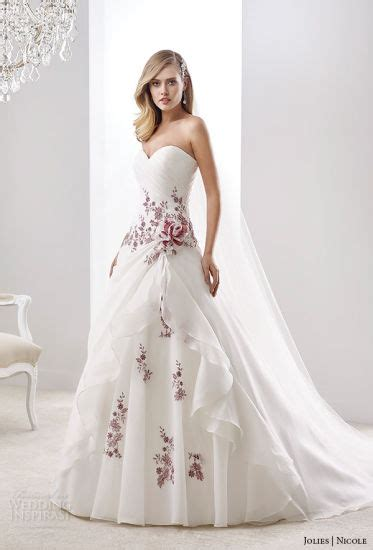 china wine lace bridal gown color accent nicole wedding