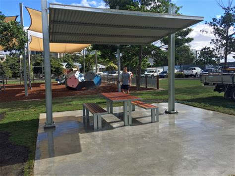 brisbane city council shade structure waterfront park project ods