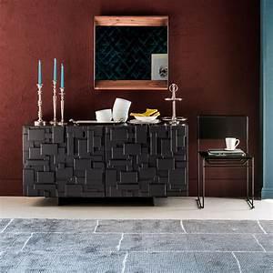 Buffet Salon Design En Bois Mondrian IDKREA Collection D