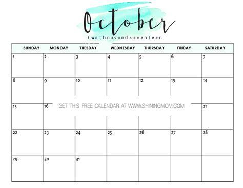 calendar 2017 template october free printable october 2017 calendar 12 awesome designs