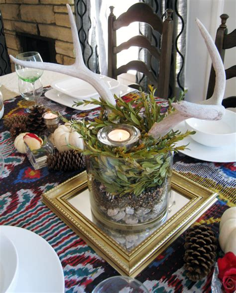 My Thanksgiving Tabletop Decor ~ Ikat & Antlers love