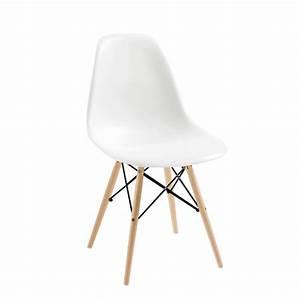 Eiffel Chair With Beech Legs White
