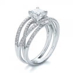 Diamond Wedding Band with Engagement Ring