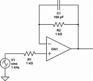 op amp parallel resistor and capacitor in non inverting With circuit of resistor and capacitor is converted into a parallel circuit