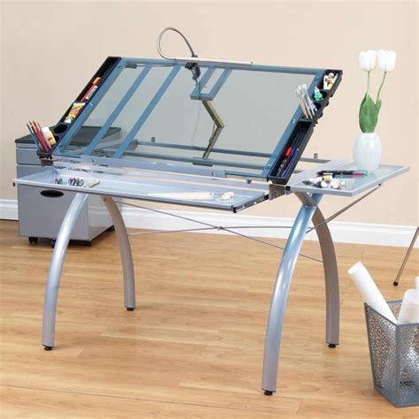 Artist Light Table by Studio Designs Futura Craft Station With Folding Shelf