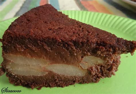 dessert poire chocolat amande gateau chocolat et poires