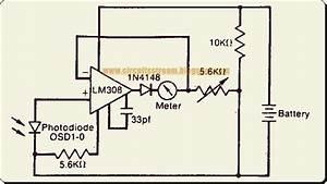 Logarithmic Light Meter Circuit Diagram