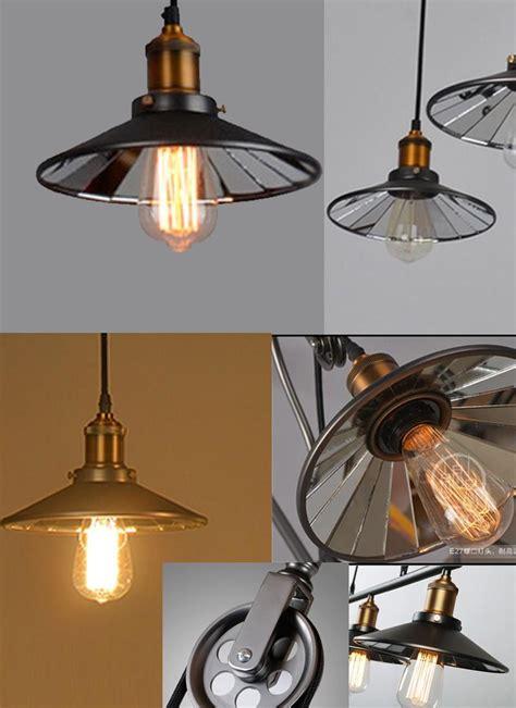 pulley pendant lights kitchen up dining room vintage pulley l kitchen light 4443