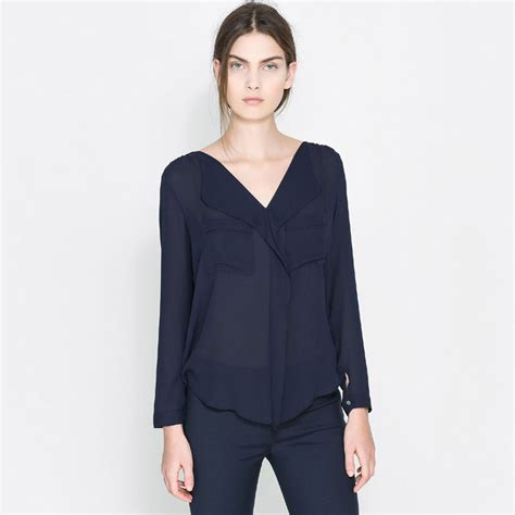 navy blouses womens navy blue blouse trendy clothes