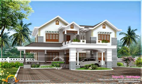 beautiful  bedroom modern house home kerala plans
