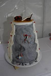 Rock Climbers Theme Wedding Cake - CakeCentral com