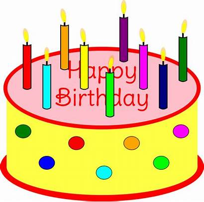 Cake Birthday Clipart Candle Candles Transparent Clip