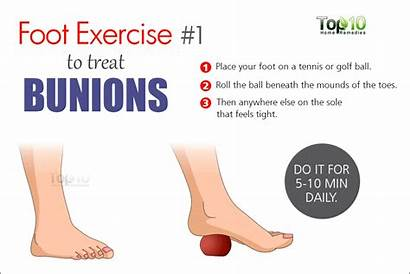 Bunions Foot Exercise Remedies Bunion Exercises Ball