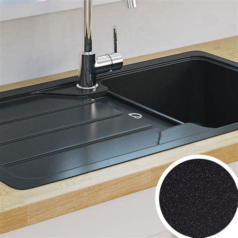 how to clean a black kitchen sink kitchen sinks metal ceramic kitchen sinks diy at b q 9317