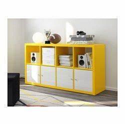 Kallax Mit Türen : ikea kallax regal gelb kann l ngs oder quer eingesetzt werden als regal oder sideboard ~ Buech-reservation.com Haus und Dekorationen