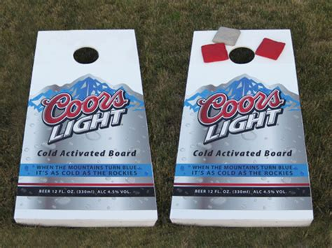 coors light corn hole gallery texas boards