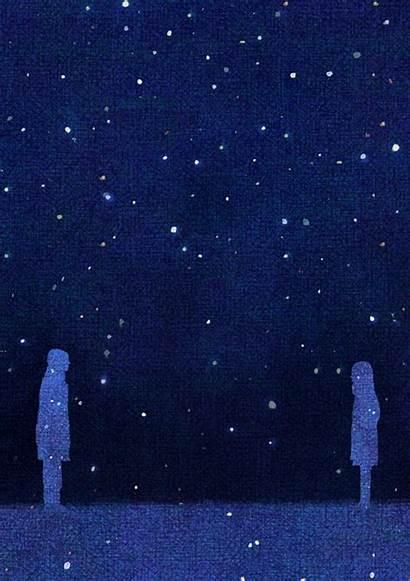 Gifs Night Starry Romantic Noches Aurora Sky