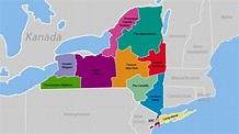 Bundesstaat New York Karte
