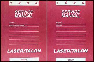 how to download repair manuals 1991 eagle talon electronic toll collection 1990 eagle talon repair shop manual original 2 volume set