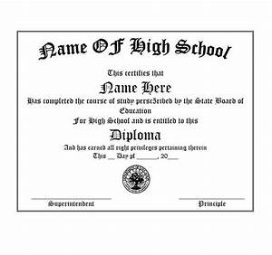 30 real fake diploma templates high school college With free fake high school diploma templates