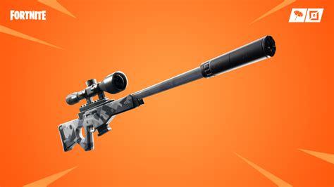 fortnite  update adds suppressed sniper rifle