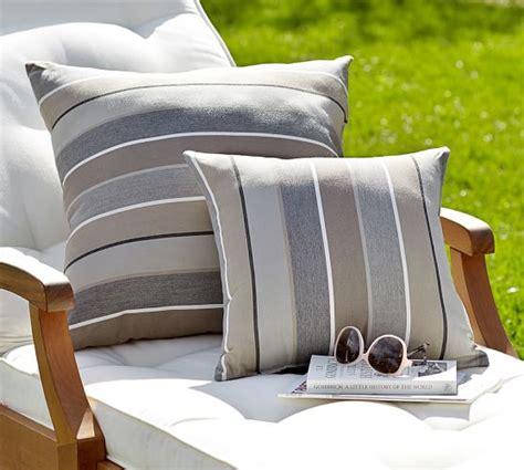 pottery barn outdoor pillows sunbrella 174 stripe indoor outdoor pillow pottery barn