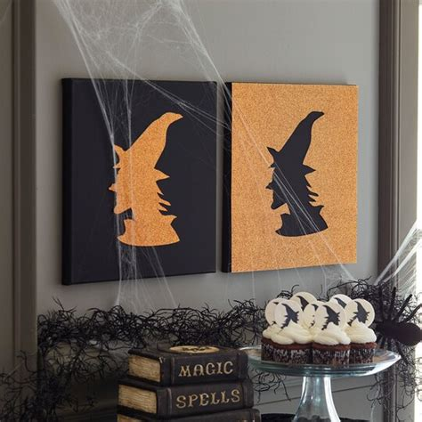 witch canvas silhouette
