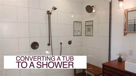 how to convert tub into shower how to convert a tub into a shower diy network