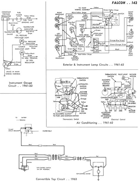 1964 Thunderbird Stereo Wiring Diagram by 1965 Falcon Wiring Diagram Wiring Library
