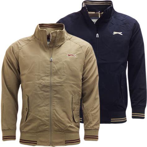 mens light jacket mens jackets slazenger harrington style jacket coat