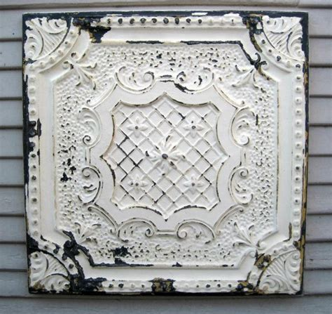 antique tin tile framed 2 x2 tin ceiling tile circa