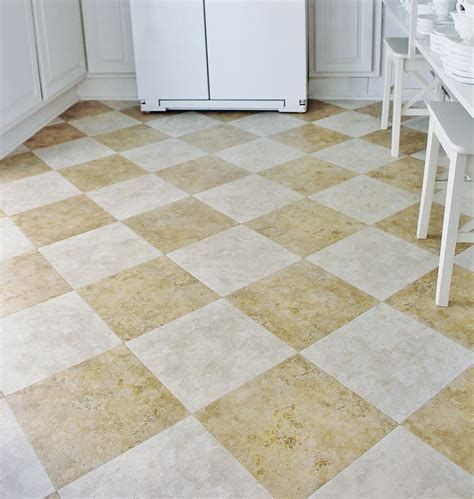 peel  stick floor tiles kitchen ideas