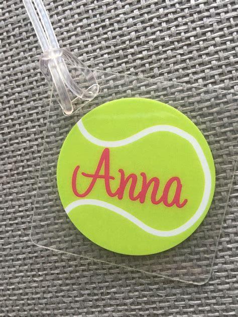 tennis bag tag sport bag tag tennis party favor tennis gift tag tennis gift personalized tennis
