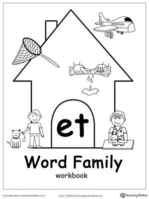 word family workbook  preschool myteachingstationcom
